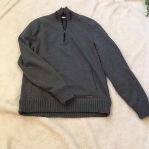 Calvin Klein Men's 3/4 Zip Sweatshirt EUC